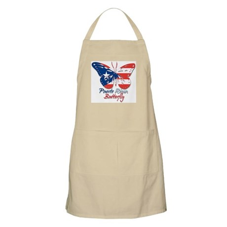 Puerto Rican Butterfly BBQ Apron