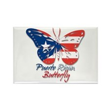 Puerto Rican Butterfly Rectangle Magnet (10 pack)