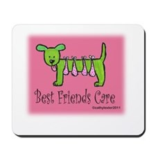 Breast Cancer Awareness Dog Mousepad