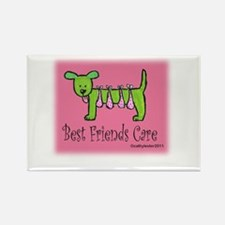 Breast Cancer Awareness Dog Rectangle Magnet