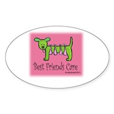 Breast Cancer Awareness Dog Decal