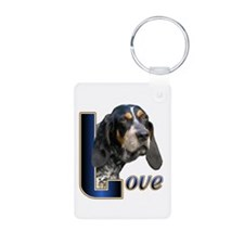 Bluetick Coonhound Love Keychains