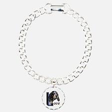 Bluetick Coonhound Love Charm Bracelet, One Charm