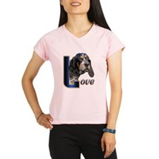 Bluetick Coonhound Love Performance Dry T-Shirt