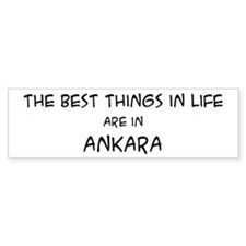 Best Things in Life: Ankara Bumper Bumper Sticker