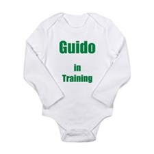 Guido In Training Long Sleeve Infant Bodysuit