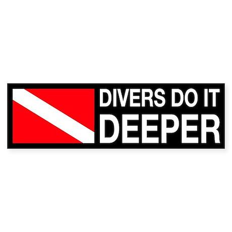 Divers Do It Deeper Sticker (Bumper)