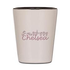 Chelsea-pink Shot Glass