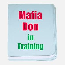 Mafia Don in Training baby blanket