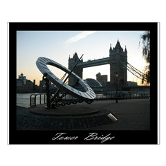 Tower Bridge sun dial Posters