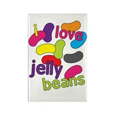 I love jelly beans Rectangle Magnet