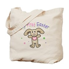 Baby Girl First Easter Tote Bag