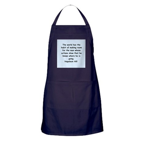Napolean Hill quotes Apron (dark)