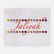 Jaliyah with Flowers Throw Blanket