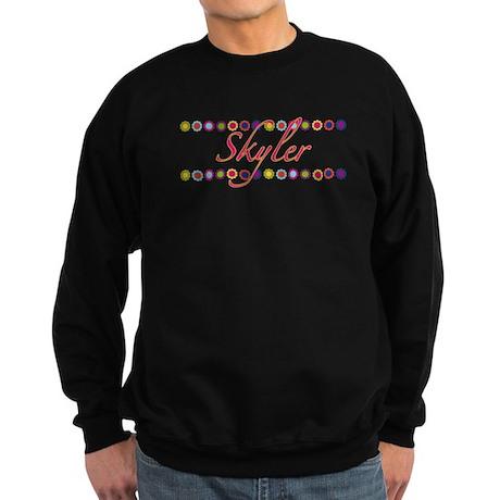 Skyler with Flowers Sweatshirt (dark)