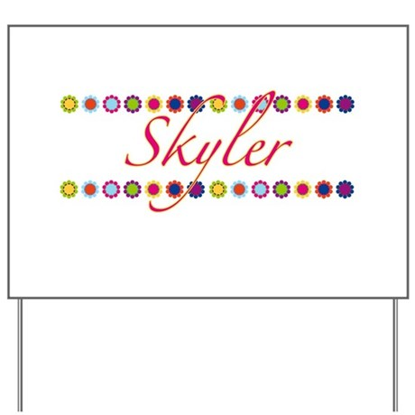 Skyler with Flowers Yard Sign