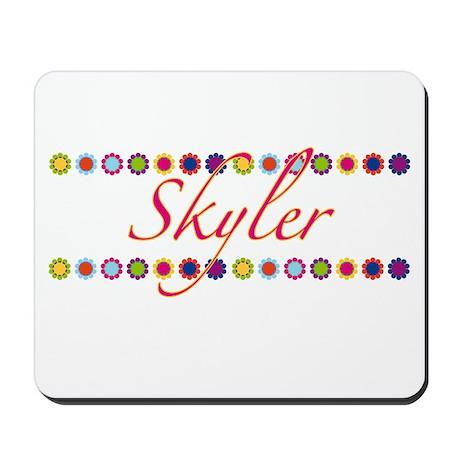 Skyler with Flowers Mousepad
