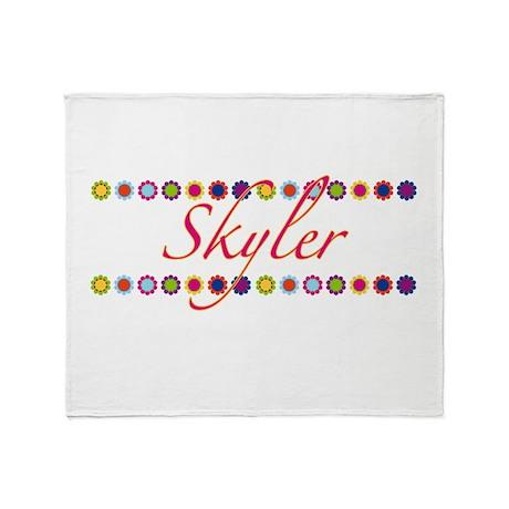 Skyler with Flowers Throw Blanket