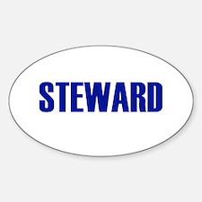 Steward Oval Decal