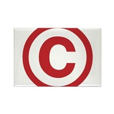 I Am Copyright Rectangle Magnet