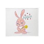 Love Bunny Throw Blanket