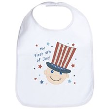 Baby's First 4th Bib