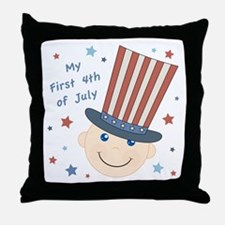 Baby's First 4th Throw Pillow
