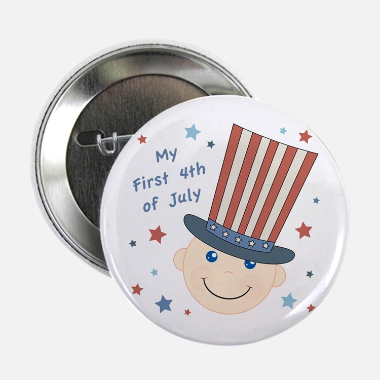 """Baby's First 4th 2.25"""" Button"""