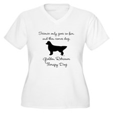 Golden Retriever Therapy Dog T-Shirt