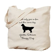 Golden Retriever Therapy Dog Tote Bag