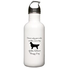 Golden Retriever Therapy Dog Water Bottle