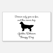 Golden Retriever Therapy Dog Decal