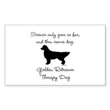 Golden Retriever Therapy Dog Stickers