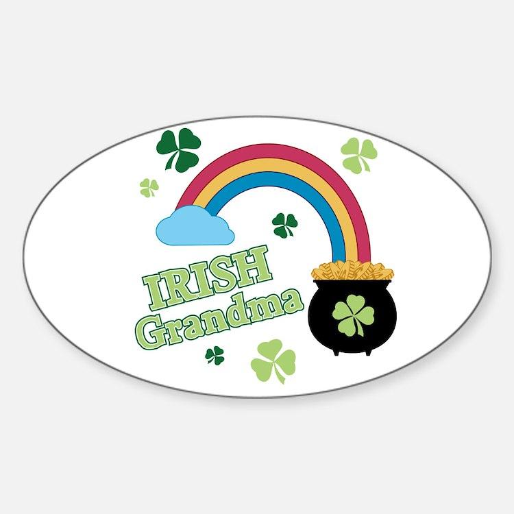 Irish Grandma Sticker (Oval)