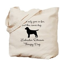 Labrador Retriever Therapy Dog Tote Bag