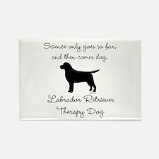 Labrador Retriever Therapy Dog Rectangle Magnet