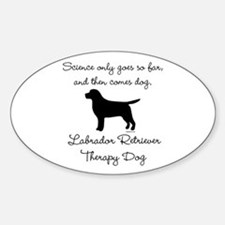 Labrador Retriever Therapy Dog Stickers