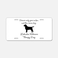 Labrador Retriever Therapy Dog Aluminum License Pl