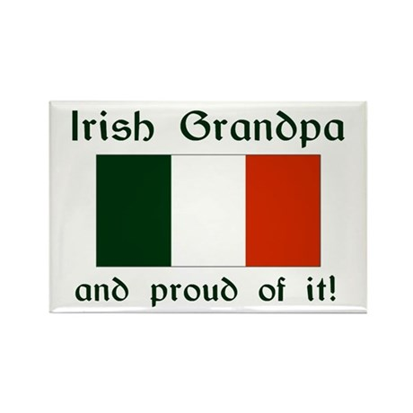 Proud Irish Grandpa Rectangle Magnet