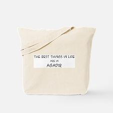 Best Things in Life: Agadir Tote Bag