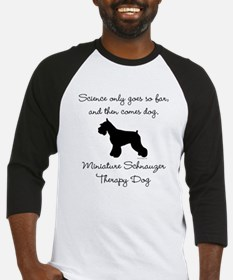 Mini Schnauzer Therapy Dog Baseball Jersey