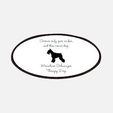 Mini Schnauzer Therapy Dog Patches