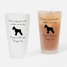 Mini Schnauzer Therapy Dog Drinking Glass