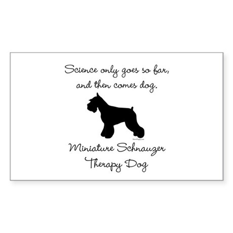 Mini Schnauzer Therapy Dog Sticker (Rectangle)