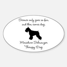 Mini Schnauzer Therapy Dog Stickers