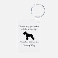 Mini Schnauzer Therapy Dog Keychains