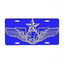 Air force mq 9 reaper drone Aluminum License Plate