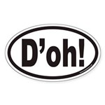 D'oh! Euro Oval Sticker