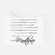 I Am a Marathoner- Congratulations Card