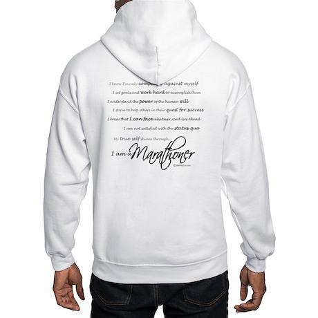 I Am a Marathoner Hooded Sweatshirt